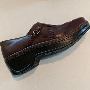 Klogs Shoes - KLOGS Brown Leather Buckle Camd Nurse Clog Mules 7